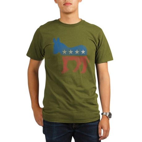 Democratic Donkey Organic Mens Dark T-Shirt