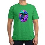 Peace Turtles Men's Fitted T-Shirt (dark)
