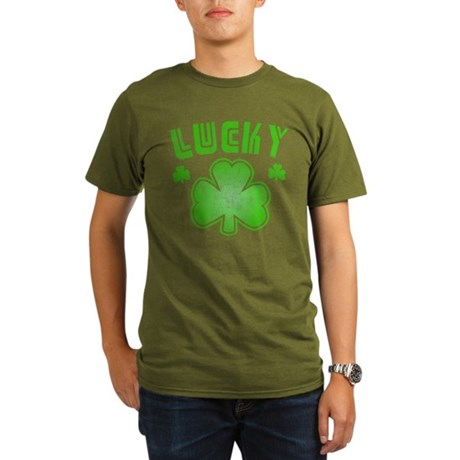 Lucky Organic Mens Dark T-Shirt
