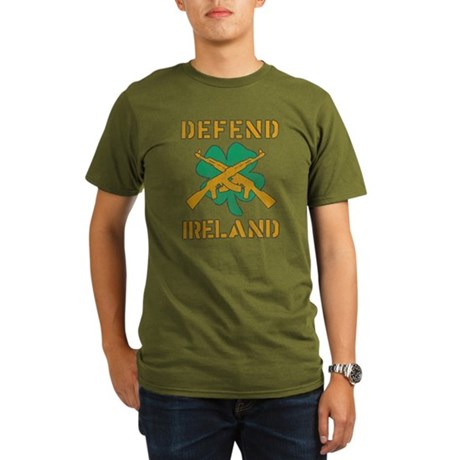 Defend Ireland Organic Mens Dark T-Shirt