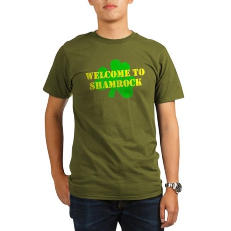 Welcome to Shamrock Organic Mens Dark T-Shirt