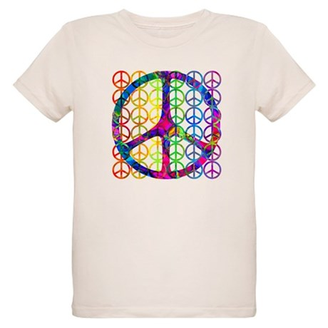 Rainbow Peace Symbols Organic Kids T-Shirt