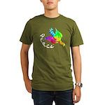 Rainbow Dove Peace Organic Men's T-Shirt (dark)