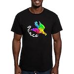 Rainbow Dove Peace Men's Fitted T-Shirt (dark)