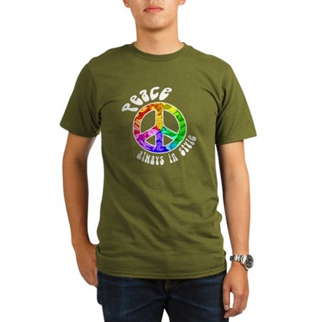 Peace Always in Style Organic Men's T-Shirt (dark)
