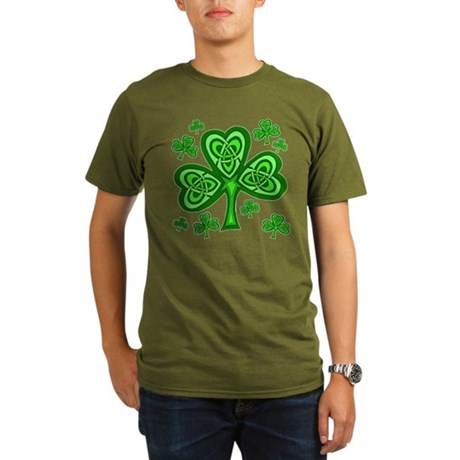 Celtic Shamrocks Organic Men's T-Shirt (dark)