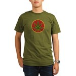 Rasta Leaf Organic Men's T-Shirt (dark)