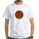 Rasta Leaf White T-Shirt