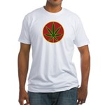 Rasta Leaf Fitted T-Shirt