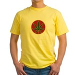 Rasta Leaf Yellow T-Shirt