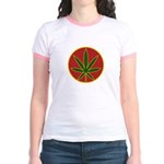 Rasta Leaf Jr. Ringer T-Shirt