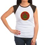 Rasta Leaf Women's Cap Sleeve T-Shirt