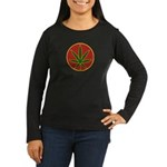 Rasta Leaf Women's Long Sleeve Dark T-Shirt