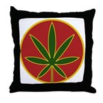 Rasta Leaf Throw Pillow