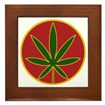 Rasta Leaf Framed Tile