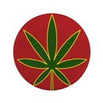 "Rasta Leaf 3.5"" Button (100 pack)"