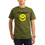 DILLIGAF Smiley Face Organic Men's T-Shirt (dark)
