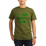 I Yam What I Yam Organic Men's T-Shirt (dark)