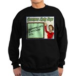 Grammar Lady is Watching You Sweatshirt (dark)