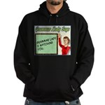 Grammar Lady is Watching You Hoodie (dark)