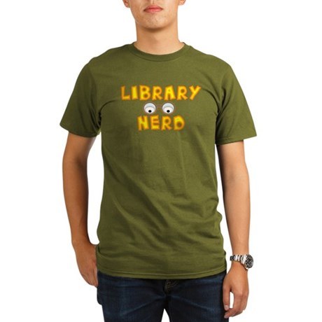 Library Nerd Organic Men's T-Shirt (dark)