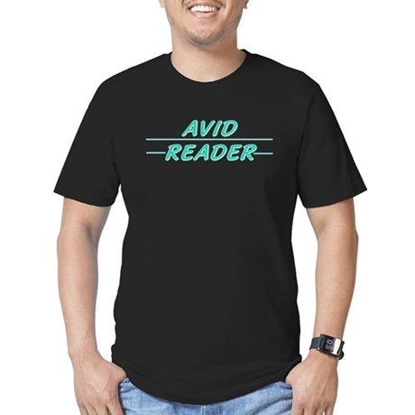 Avid Reader Men's Fitted T-Shirt (dark)