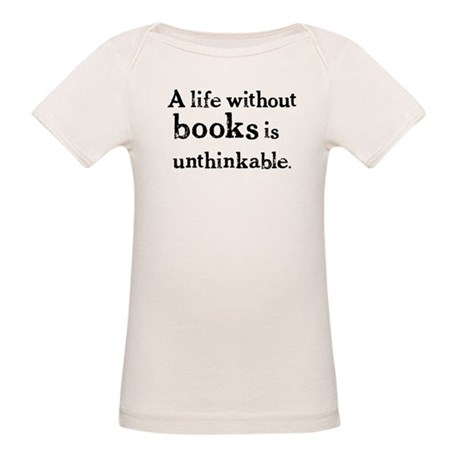 Life Without Books Organic Baby T-Shirt