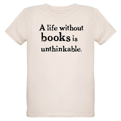 Life Without Books Organic Kids T-Shirt