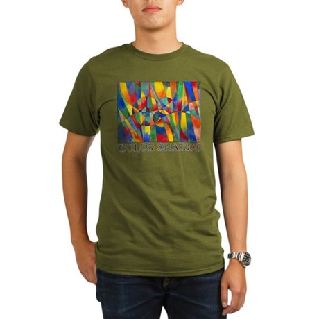 Color Shards Organic Men's T-Shirt (dark)