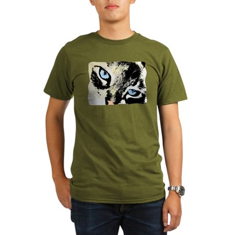 Ink Cat Organic Men's T-Shirt (dark)