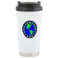 Let There Be Peas On Earth... Ceramic Travel Mug