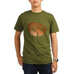 Orange 3D 45 RPM Adapter Organic Men's T-Shirt (dark)