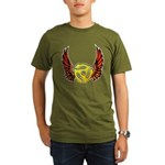 Red Winged 45 RPM Adap Organic Men's T-Shirt (dark)