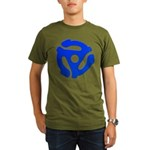 Blue 45 RPM Adapter Organic Men's T-Shirt (dark)