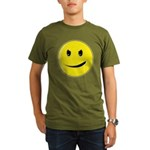 Smiley Face - Evil Grin Organic Men's T-Shirt (dark)