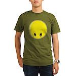 Smiley Face - Looking Down Organic Men's T-Shirt (dark)