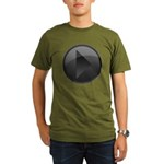 Play Button Organic Men's T-Shirt (dark)