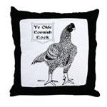 Ye Olde Cornish Cock Throw Pillow