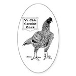 Ye Olde Cornish Cock Oval Sticker (50 pk)