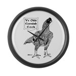 Ye Olde Cornish Cock Large Wall Clock