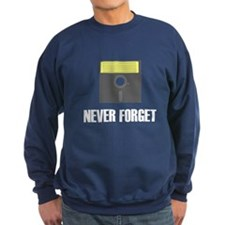 Never Forget Floppy Disks Sweatshirt