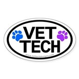 Vet Tech Oval Decal