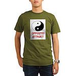OPPOSITES ATTRACT Organic Men's T-Shirt (dark)