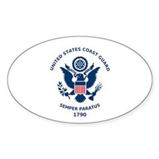 U.S. Coast Guard Flag Oval Decal