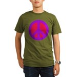 Red on purple Organic Men's T-Shirt (dark)