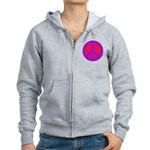 Red on purple Women's Zip Hoodie