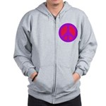 Red on purple Zip Hoodie