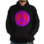 Red on purple Hoodie (dark)