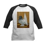 Indian Fantail Pigeon Kids Baseball Jersey