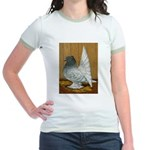 Indian Fantail Pigeon Jr. Ringer T-Shirt